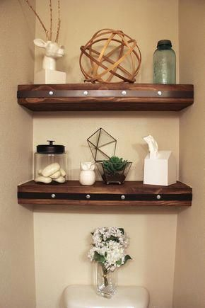 Modern Bathroom Shelves above the toilet #bathroomshelves   – Nest