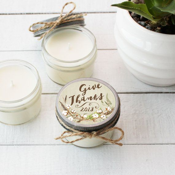 Cool soy candle wedding favors Table candles