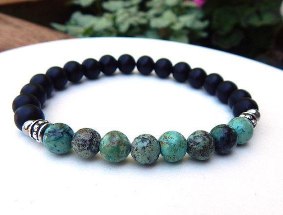 Mens African Turquoise Bracelet Man Black Onyx Men S Jewelry Beaded
