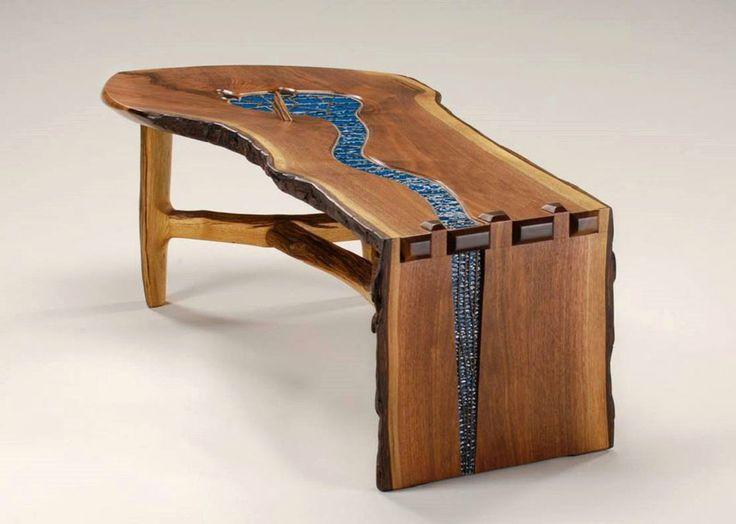 Table Originale En Bois #5: Un Mobilier Rustique Et Contemporain à La Fois Pour Un Intérieur Créatif