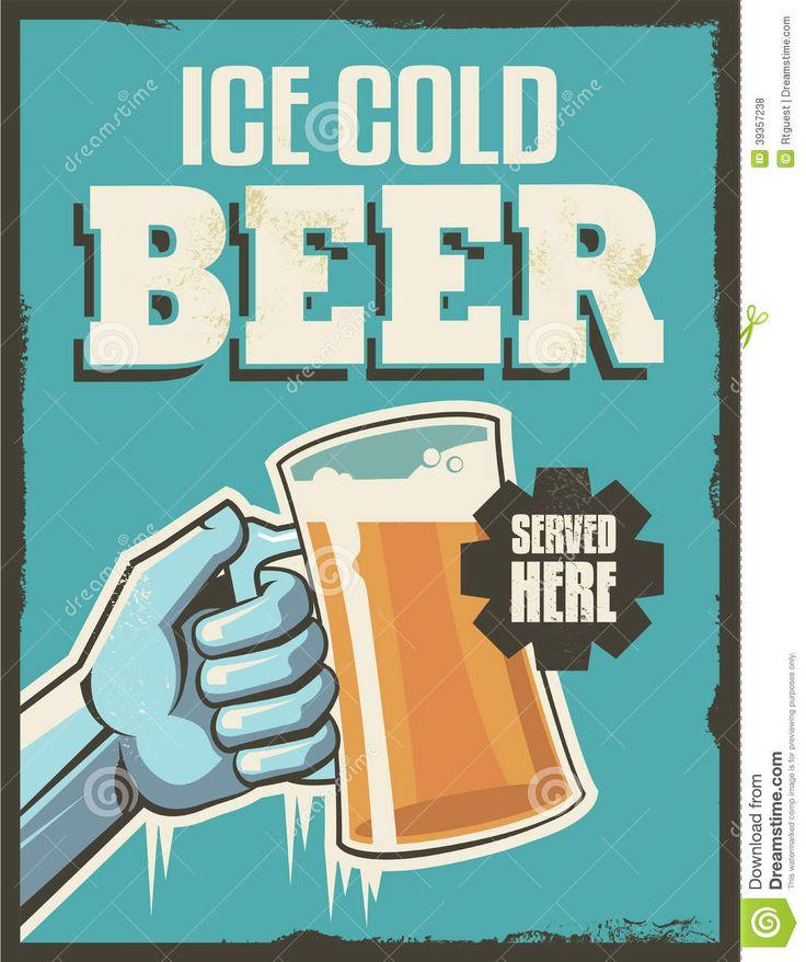 Vintage Retro Beer Poster Stock Vector - Image: 39357238