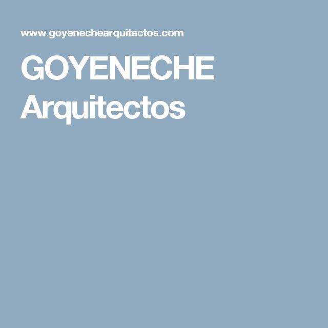 GOYENECHE Arquitectos contact us by email: informacion@goyenechearquitectos.com