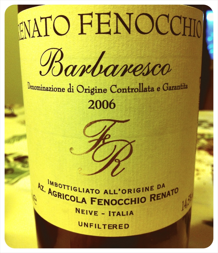 Renato Fenocchio - Barbaresco 2006 Unfiltered