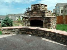 How To Build An Outdoor Stacked Stone Fireplace. Diy ...