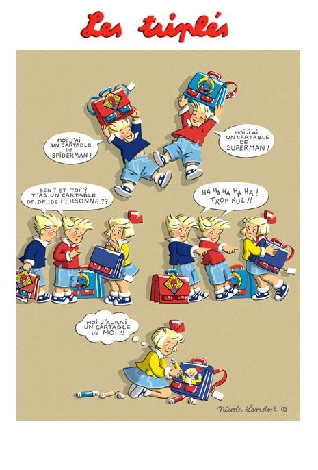 Les Triplés - for more inspiration visit http://pinterest.com/franpestel/boards/