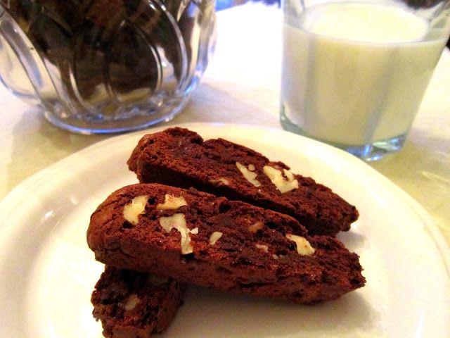... double dark chocolate and ginger biscotti these dark chocolate and