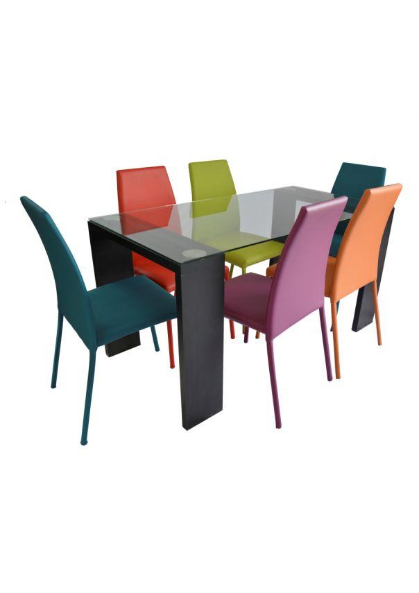 Comedor Loft Negro / 6 Colores