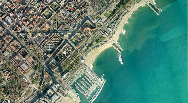 Ariel view of the Barcelona Olympic Village