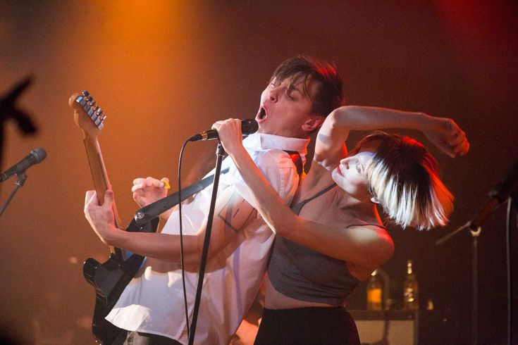 Peter Dreimanis and Leah Fay of July Talk at the Commodore Ballroom, Vancouver, Oct. 23 2014. Kirk Chantraine photo. Full gallery on The Snipe News.