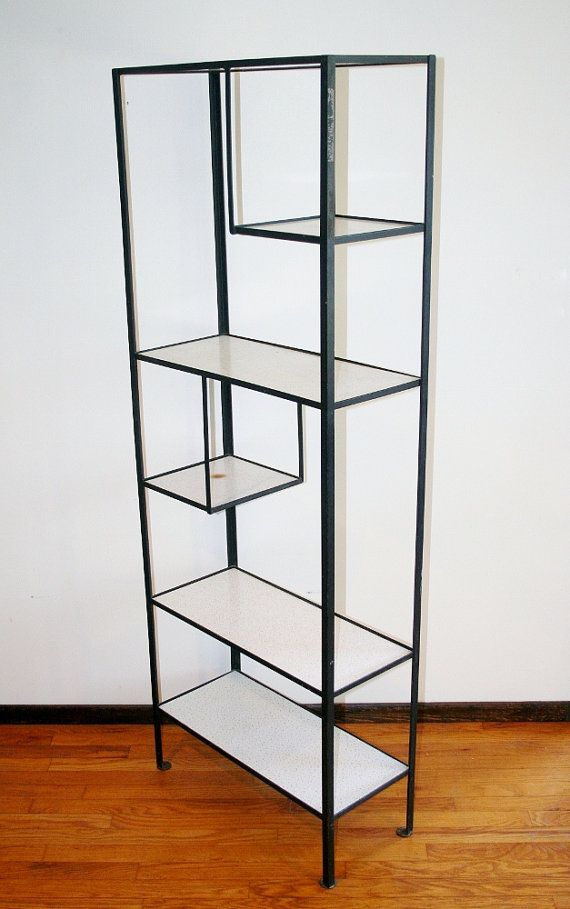 Marvelous Frederic Weinberg Modern Iron Shelving Unit W Masonite Shelf Mid Century Modern  Etagere Furniture Bookshelf Room Divider Eames Era 1950s MCM | Pinterest ...
