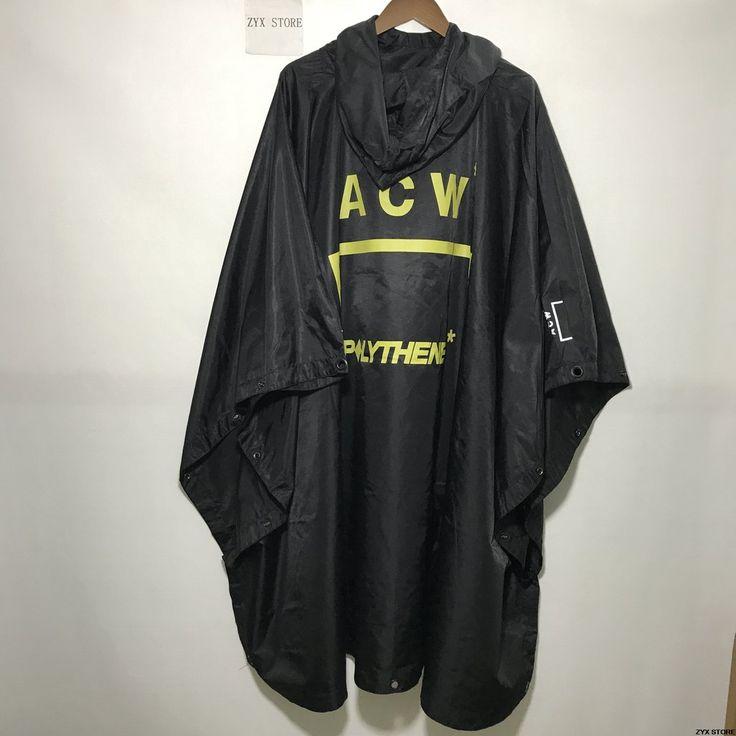 ACW Women Men Raincoat Jacket  Hiphop Oversized Raincoat windbreaker waterproof