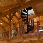 Timber Frame House Staircase