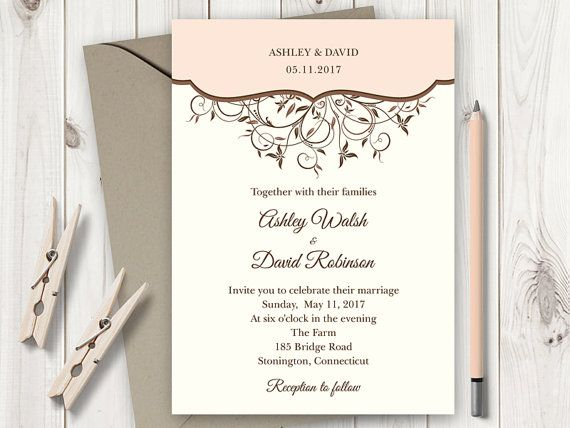 10 best Wedding Invitation Templates  - wedding announcement template
