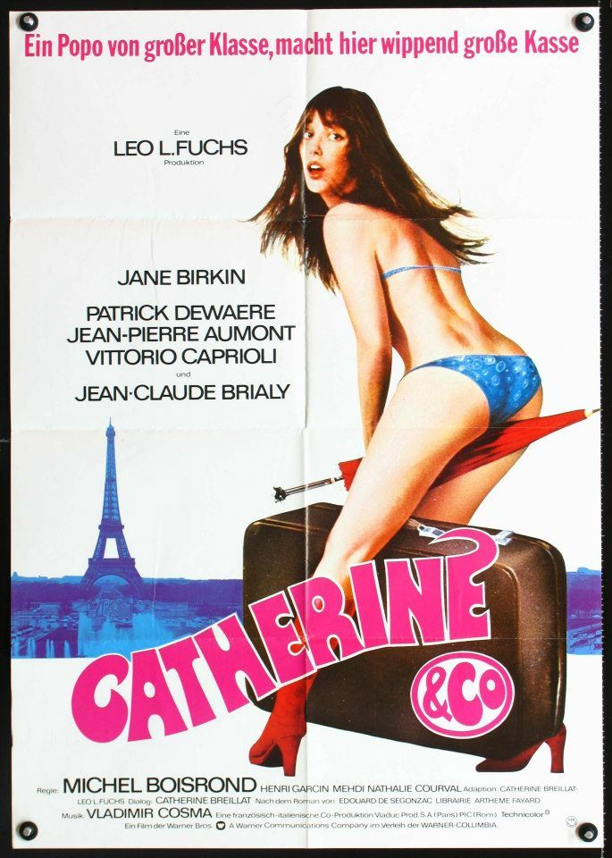 German poster for  - Catherine and Co