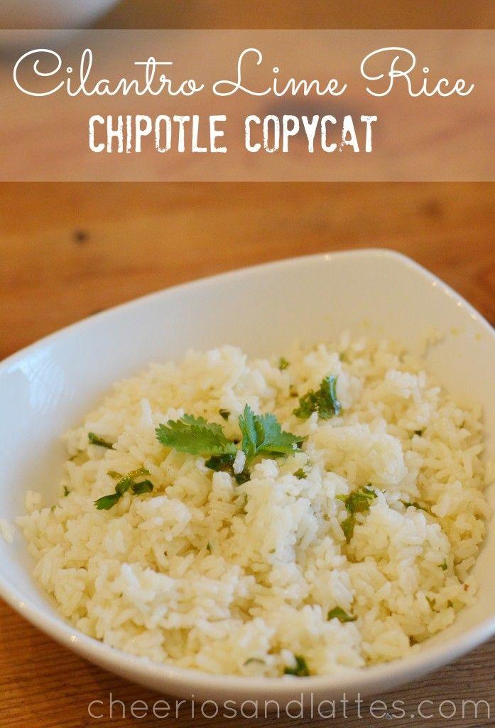 Cilantro Lime Rice- Chipotle Copycate Recipe #rice #cilantro #chipotlerecipes #copycatrecipes