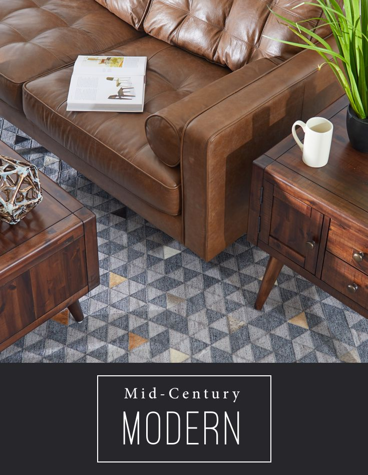 Go Retro With A Mid Century Modern Look From A Low Profile Couch To An End Table With Clean Lines And Angled City Furniture Living Room Furniture Living Room