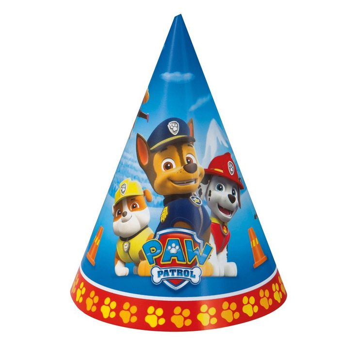 PAW Patrol Party Hats, 8ct, Counting - Amazon Canada