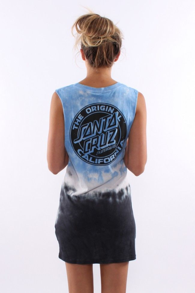 Santa Cruz - Cali Dot Girls Muscle Dress Ocean Tie Dye