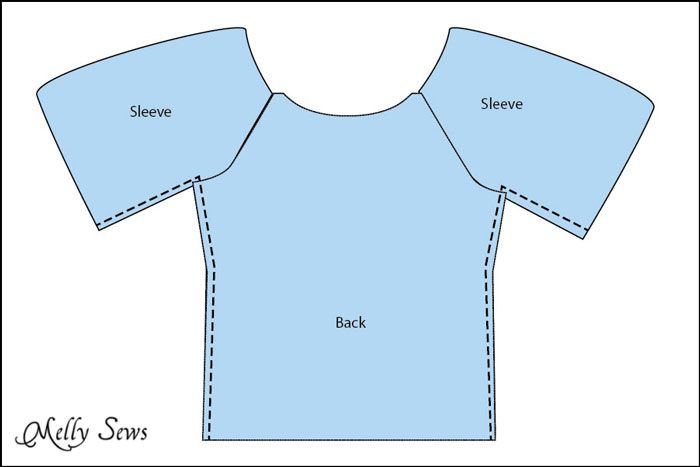Step 3 - Women's Peasant Top Pattern - Sew a Peasant Top - Melly Sews