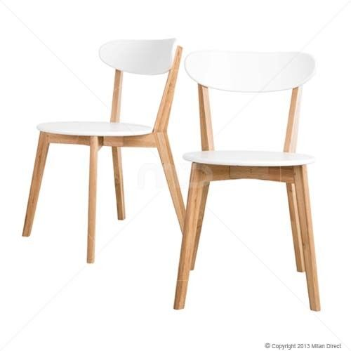 Set of 2 - Oslo Dining Chair - White | $219.00 - Milan Direct