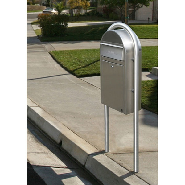450 Stainless Mailbox With Post Installation Entry