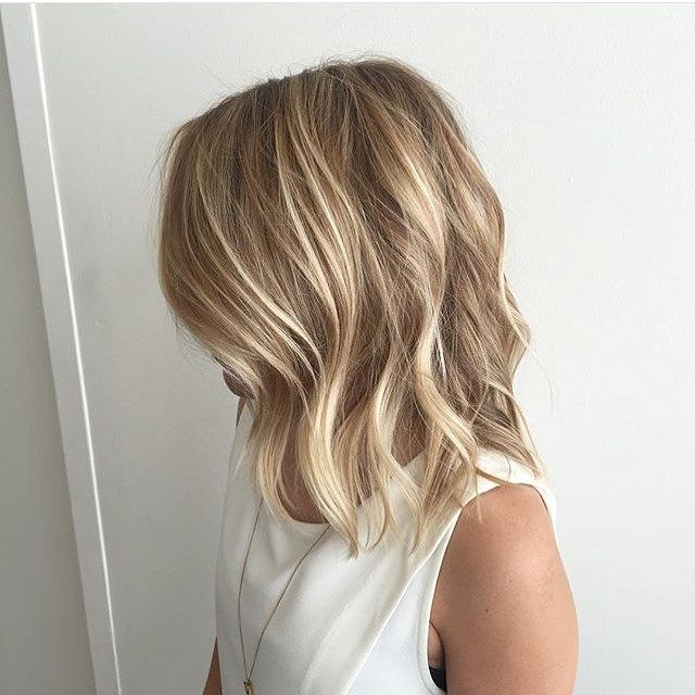 Blonde hair natural highlights. Cut &  color