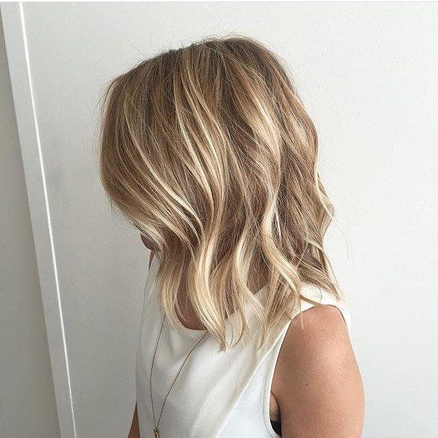 Blonde hair natural highlights. Cut &  color                              …