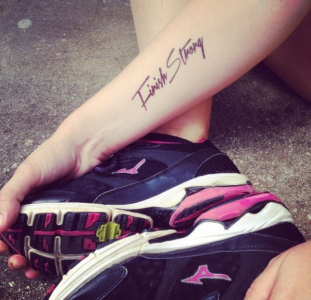 RUNNER TATS. TATTOOS FOR RUNNERS. FINISH STRONG.