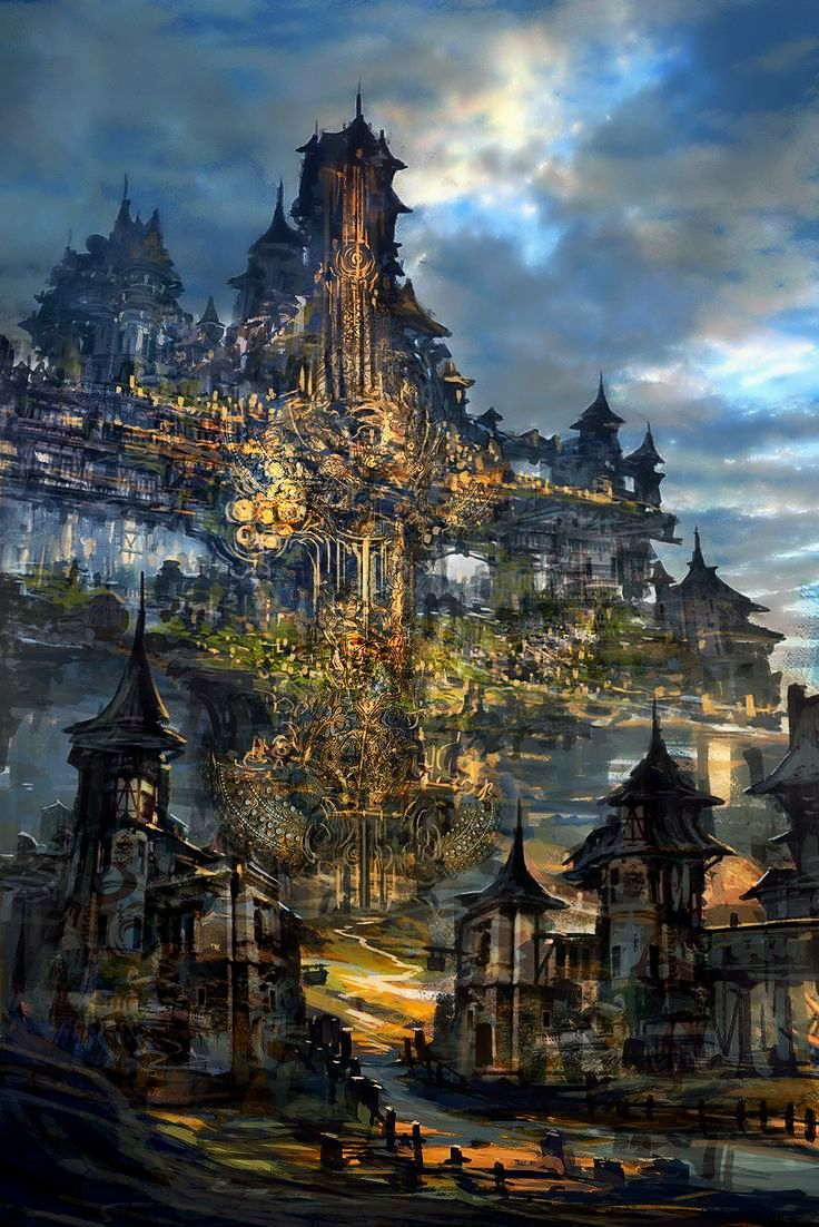 Medieval Fantasy Cities : medieval, fantasy, cities, Юлия, Гаджиева, ⊱––––•, ℱantasy, Places, •––––⊰, Fantasy, Landscape,, Concept