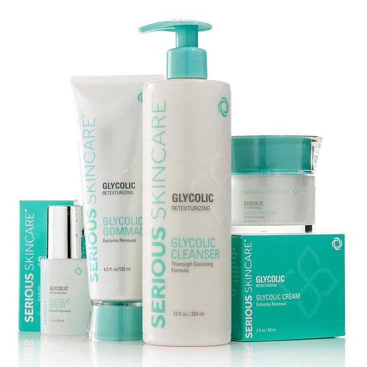 Serious Skincare by Jennifer Flavin-Stallone Serious Skincare Glycolic Retexturizing 4-piece Kit