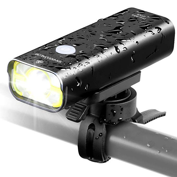 Sahara Sailor Bike Light Pro 800 Lumens Bright Usb Rechargeable Aluminum Alloy Bicycle Headlight Cree Led Front Light Wire Control Ipx6 Waterproof W Free Ta Bicycle Headlight Bike Lights Bike Headlight