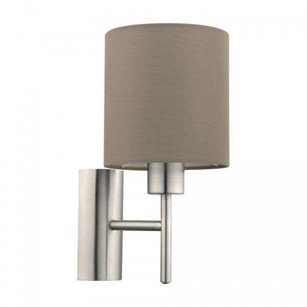 94925 Pasteri 1 Light Switched Wall Light Taupe