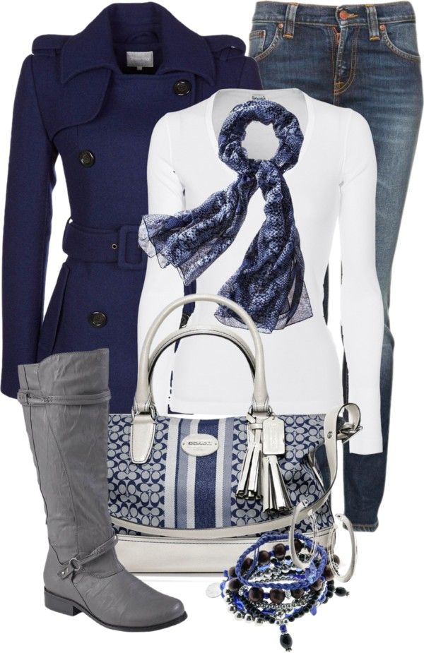 """Casual Blue & Gray"" by happygirljlc on Polyvore"