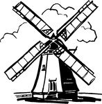 dutch windmill coloring pages - photo#26