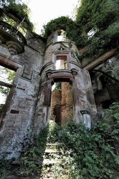 Milkbank House ruins near Lockerbie, Scotland.