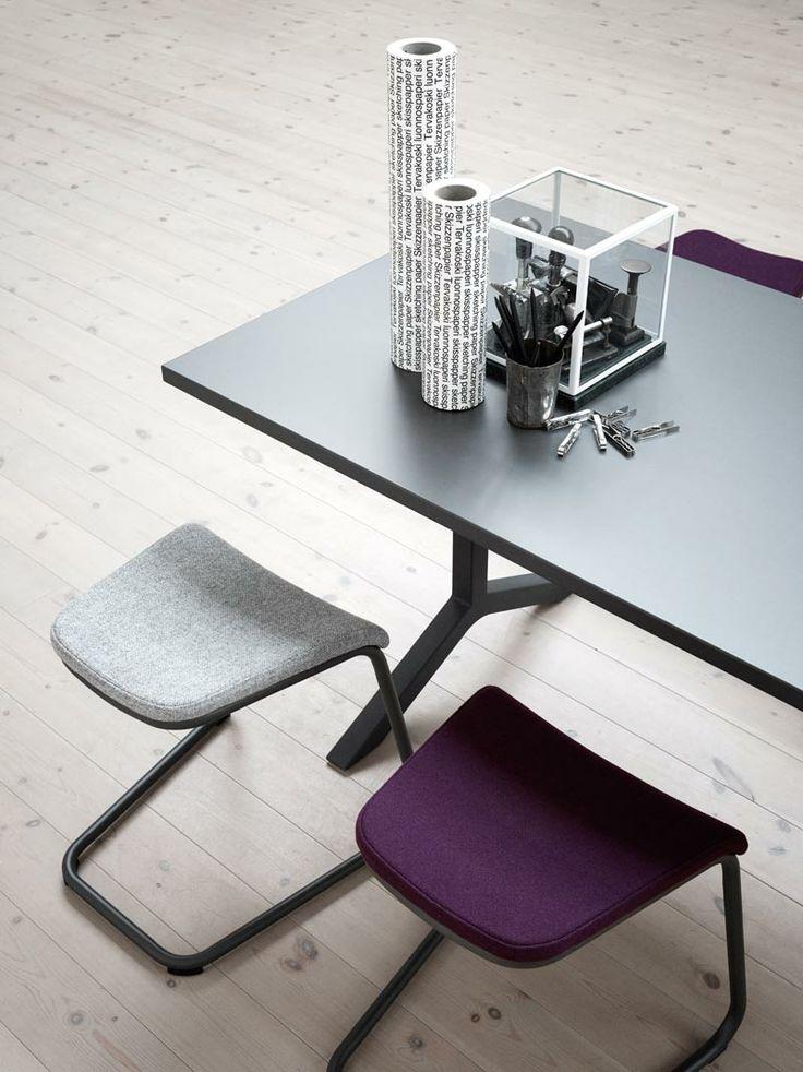Add stool, designer Anya Sebton & Funk Table, designers Johannes Foersom & Peter Hiort-Lorenzen| Lammhults