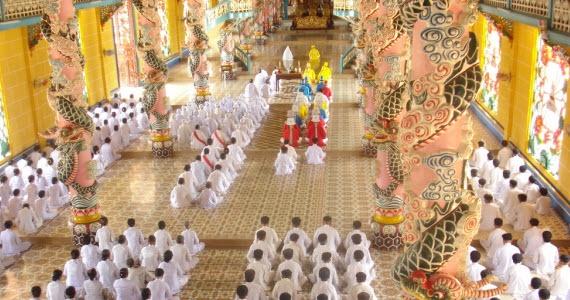 Caodaism Church  http://www.customvietnamtravel.com/vietnam-tours/soft-adventure-tours/hidden-beauty-of-vietnam.html