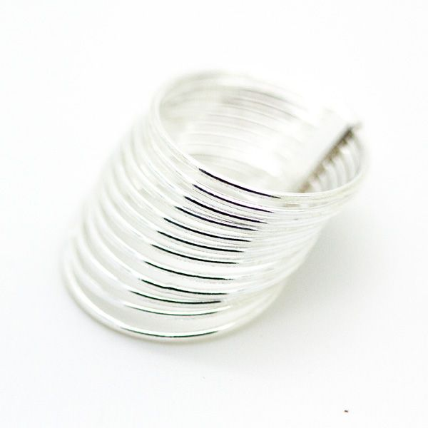 Sterling Silver 12 Banded Rings