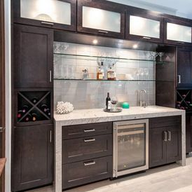 Modern Home Bar By Design Theory Studio
