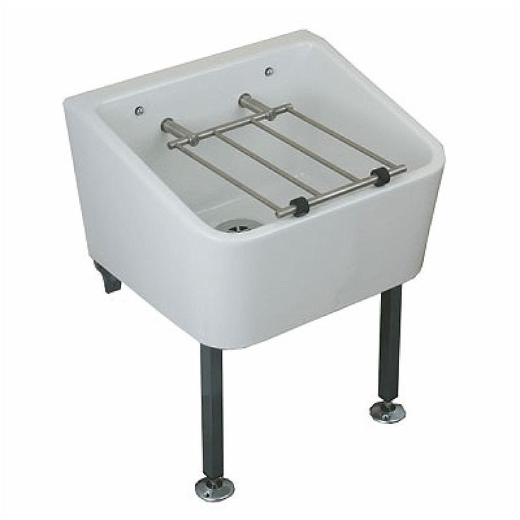 Twyford FC1034WH White Cleaner Sink 465 x 400 mm Including Grating