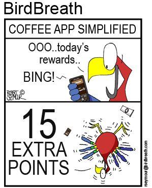 Coffee App Simplified!!  #birdbreath #birdcartoon #coffee #caffeine