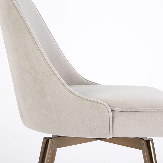 Mid-Century Swivel Office Chair - Velvet #westelm