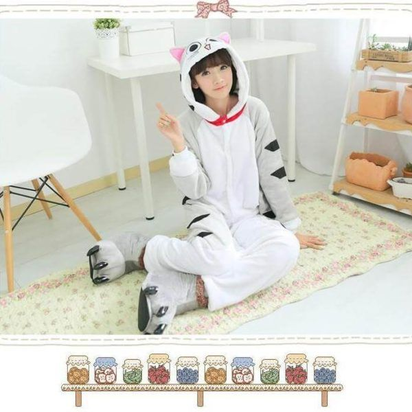 Cat Kigurumi, Cartoon #pajama | Use onesiesave10 #coupon for 10% off with free shipping