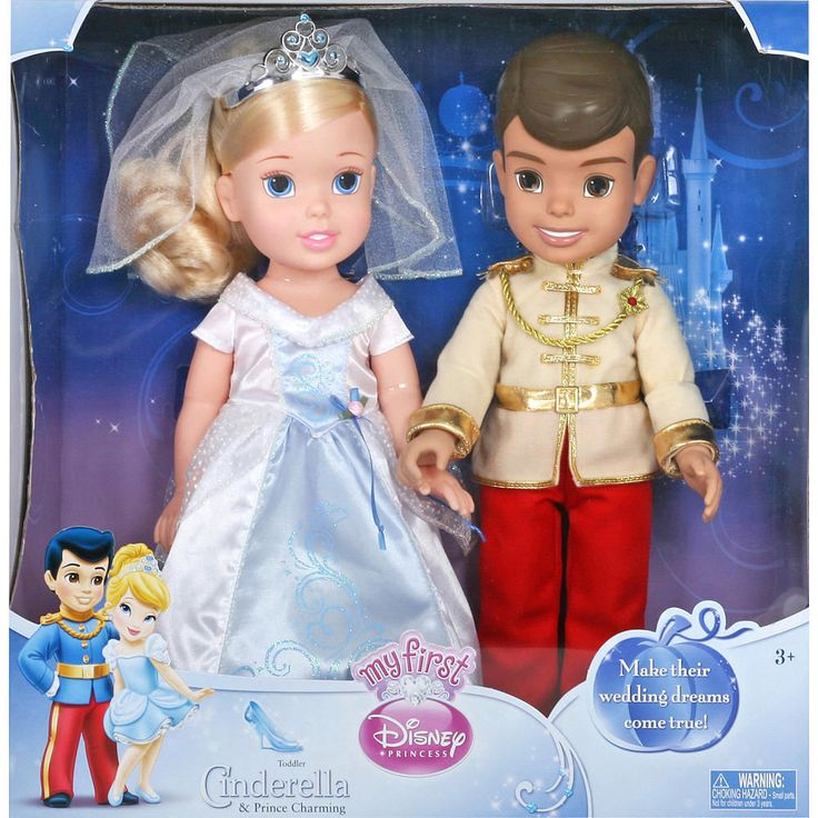nib my first disney princess toddler doll wedding cinderella prince charming disney kids. Black Bedroom Furniture Sets. Home Design Ideas
