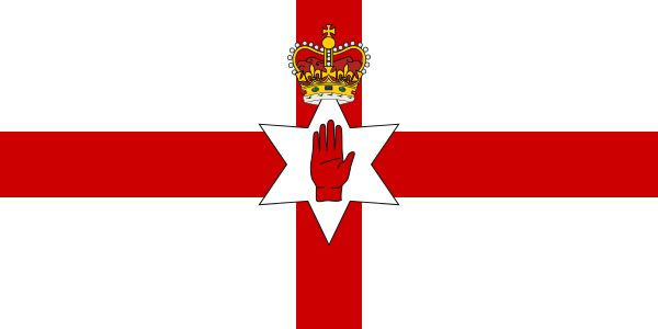 Flag of Northern Ireland - Bandeiras da Europa – Wikipédia, a enciclopédia livre