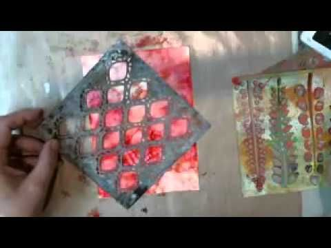Alcohol inks, stencils and Yupo - from the Art House Studio