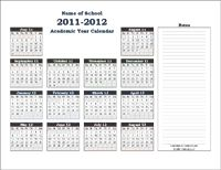 """Academic Calendar Year Template - free pdf download.  Scroll down and 2012-13 is there, too.  Just put a mark through the days you """"do"""" school."""