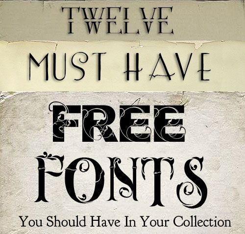 Shadowhouse Creations: 12 Free Must Have Fonts