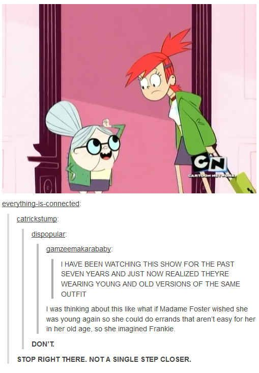 Foster's home for imaginary young friends: | 19 Insane Fan Theories About Movies And TV That Will Blow Your Mind