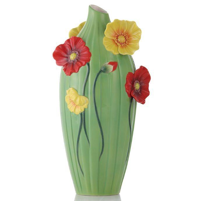 Poppy Vase | Sculptured Porcelain | Franz Porcelain